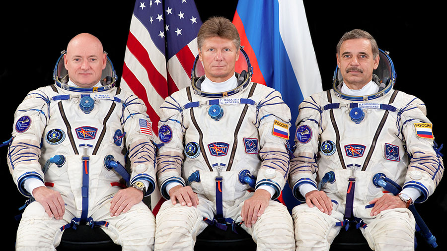 Scott Kelly, Gennady Padalka and Mikhail Kornienko