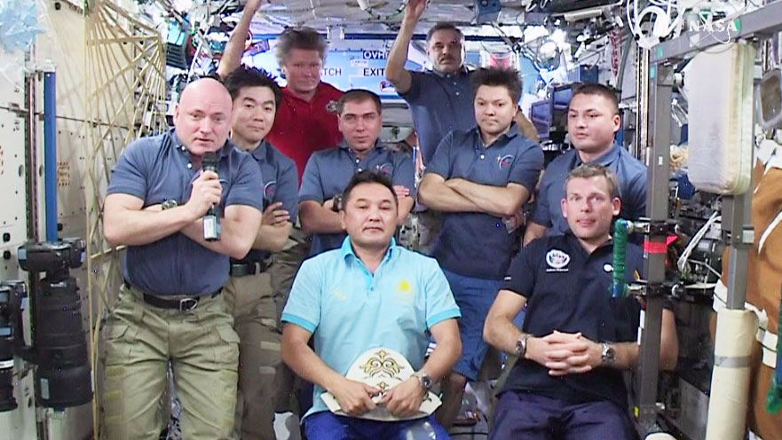 Nine-Member Space Station Crew
