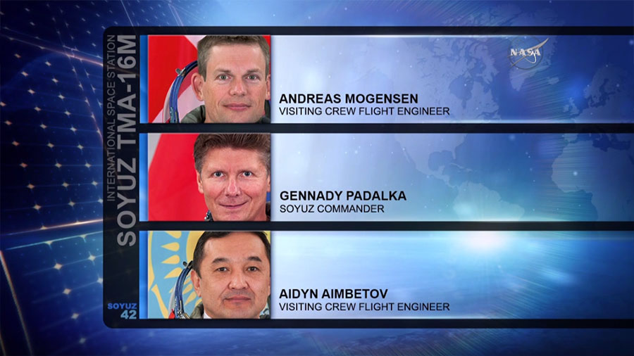 Soyuz TMA-16M Landing Crew Members