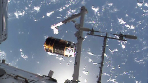 Robotic Arm Releases Japanese Cargo Craft After Five Weeks at Station