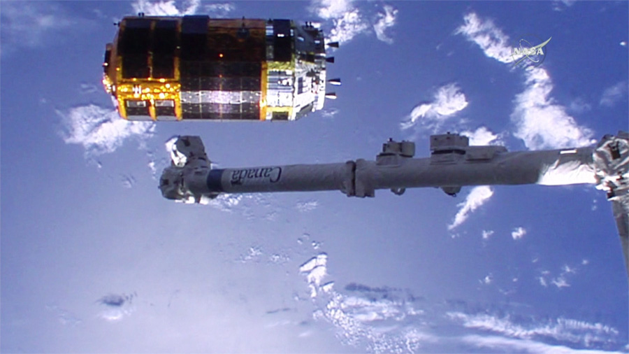 Canadarm2 and HTV-5 Resupply Ship