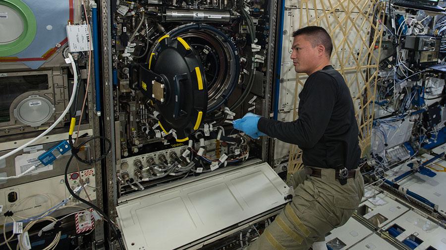 NASA astronaut Kjell Lindgre