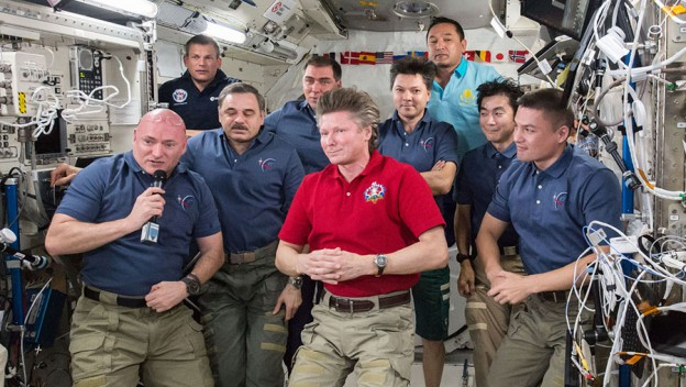 Homecoming Day for Three Station Crew Members