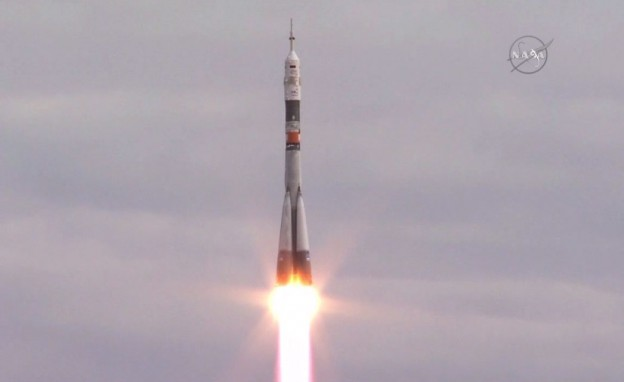 Three Soyuz Crew Members Launch for Two Day Trip to Station