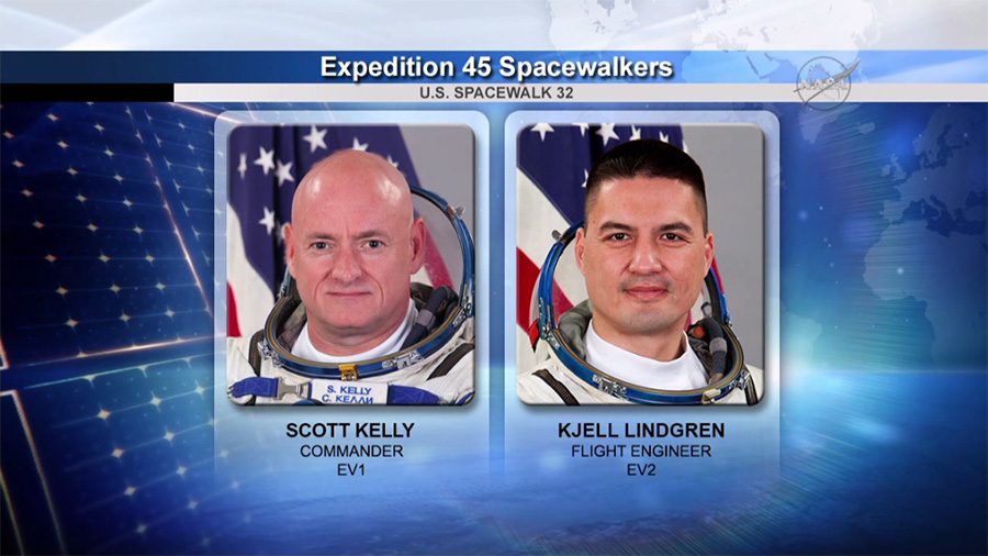 NASA Astronauts Scott Kelly and Kjell Lindgren