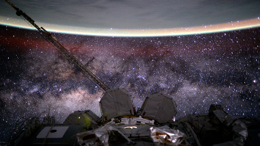 Station, Earth and Milky Way