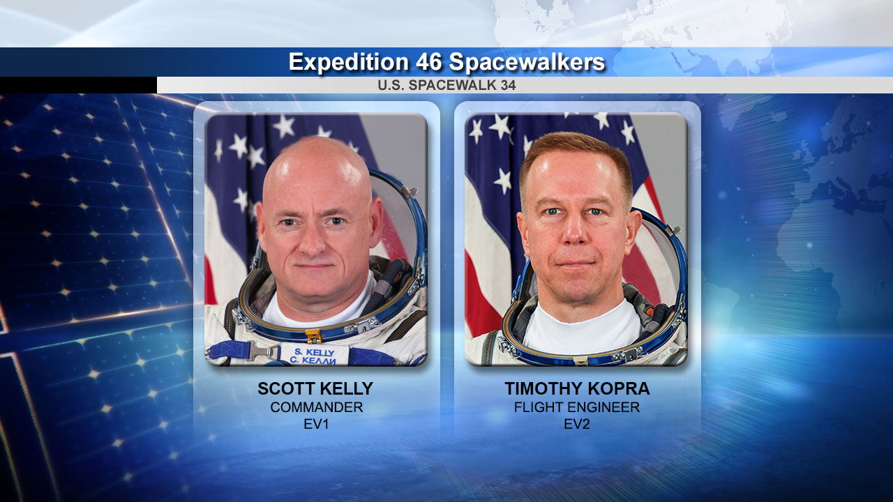 NASA Astronauts Scott Kelly and Tim Kopra
