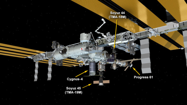 Russian Cargo Spaceship Departs Station