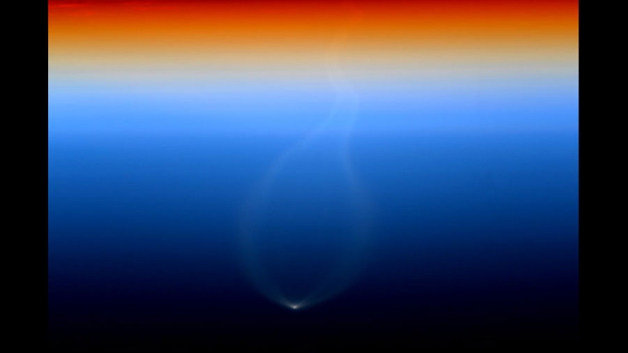 Cygnus Ascent into Space