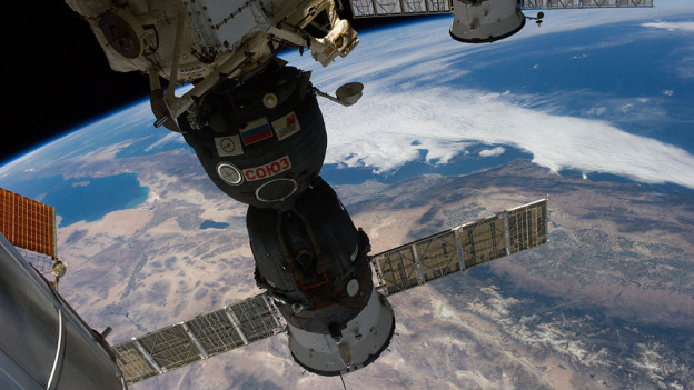New Crew in Soyuz Closing in for Station Docking