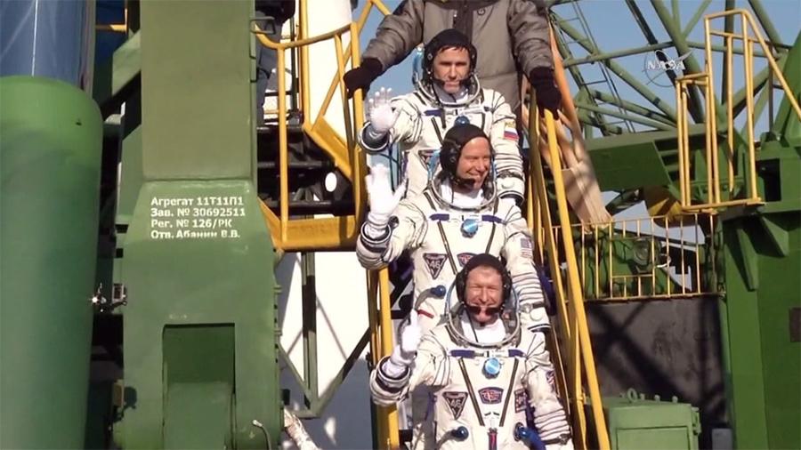 Expedition 46 Trio