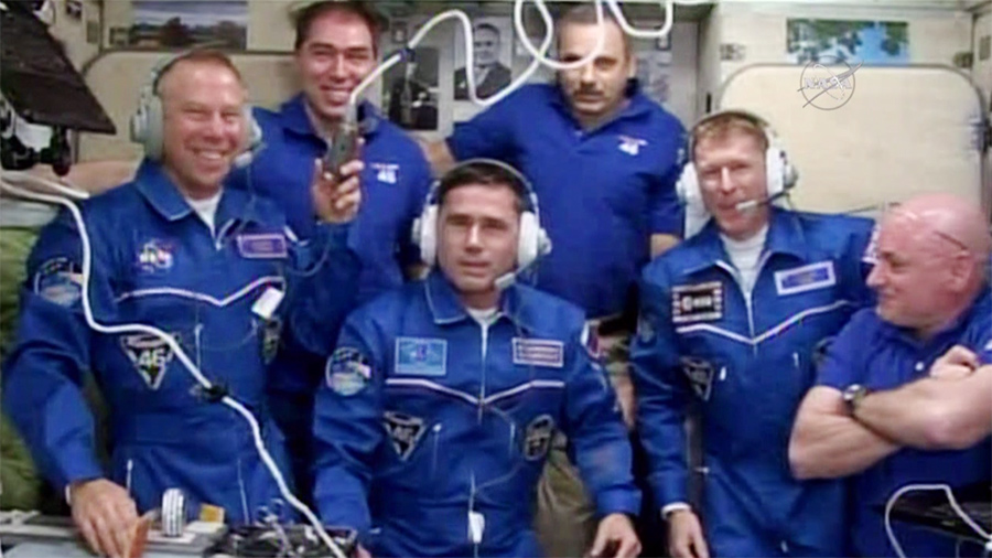 The Six-Member Expedition 46 Crew