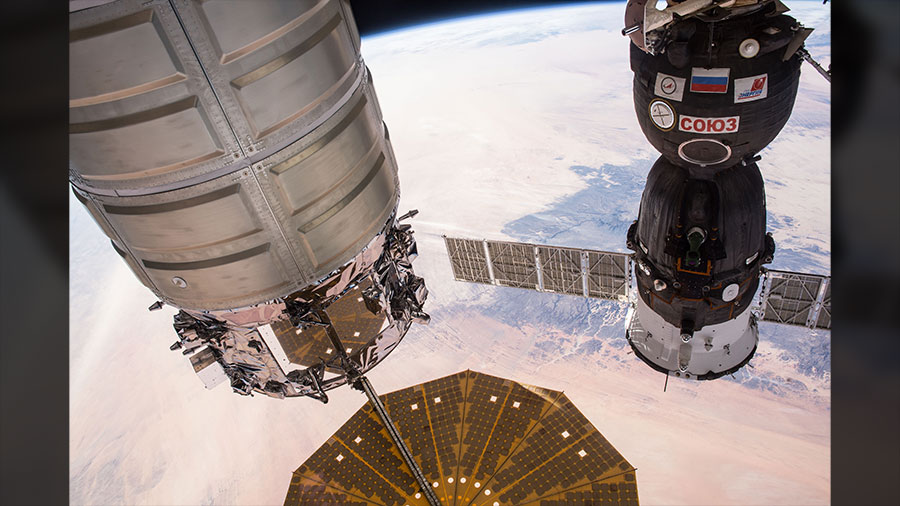 Cygnus and Soyuz