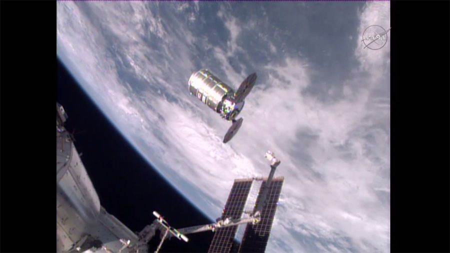 Cygnus Released from Station