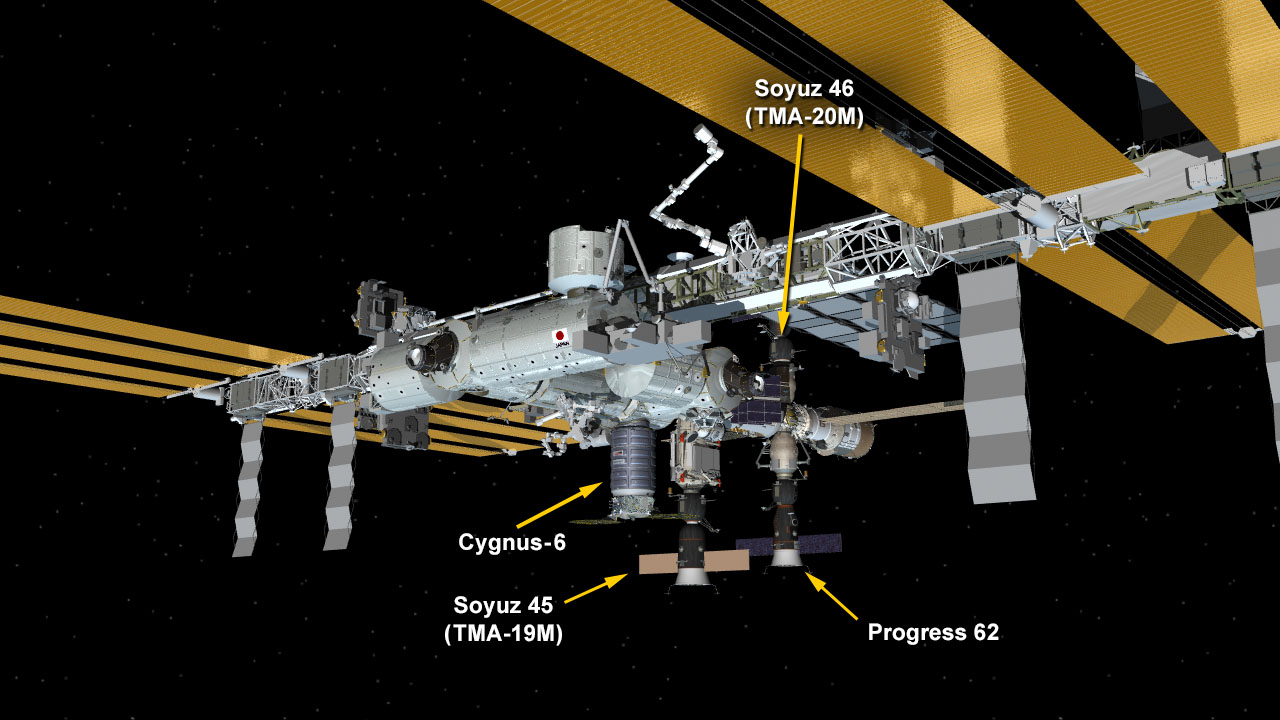 March 30, 2016: International Space Station Configuration