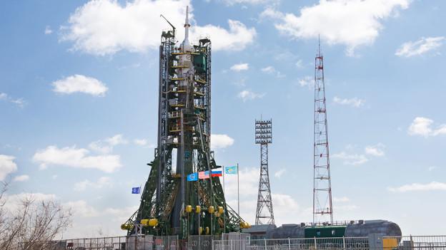 Soyuz TMA-20M Rocket at the Launch Pad