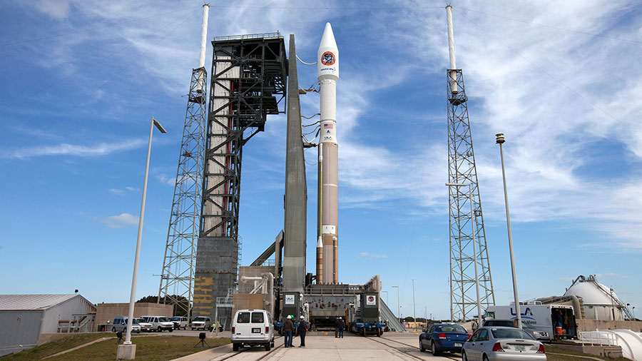 Cygnus Spacecraft at Launch Pad