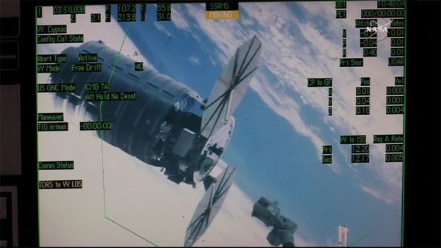 Robotic Arm Grabs Space Delivery After Three Day Mission