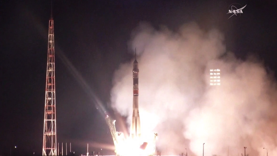 The Soyuz TMA-20M Spacecraft Launches