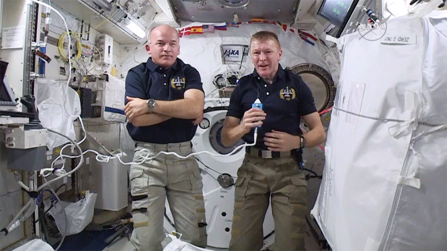 Astronauts Jeff Williams and Tim Peake