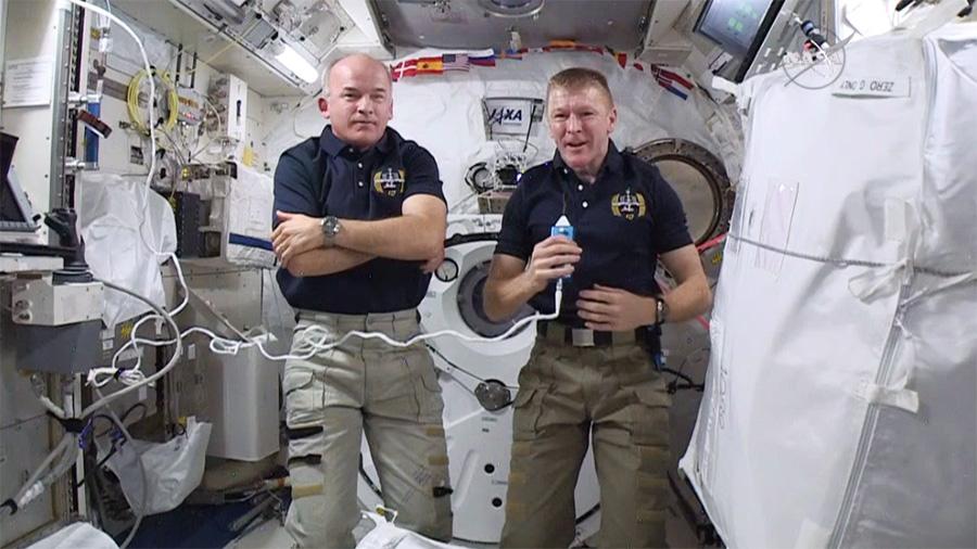 Astronauts Jeff Williams and Tim Peake