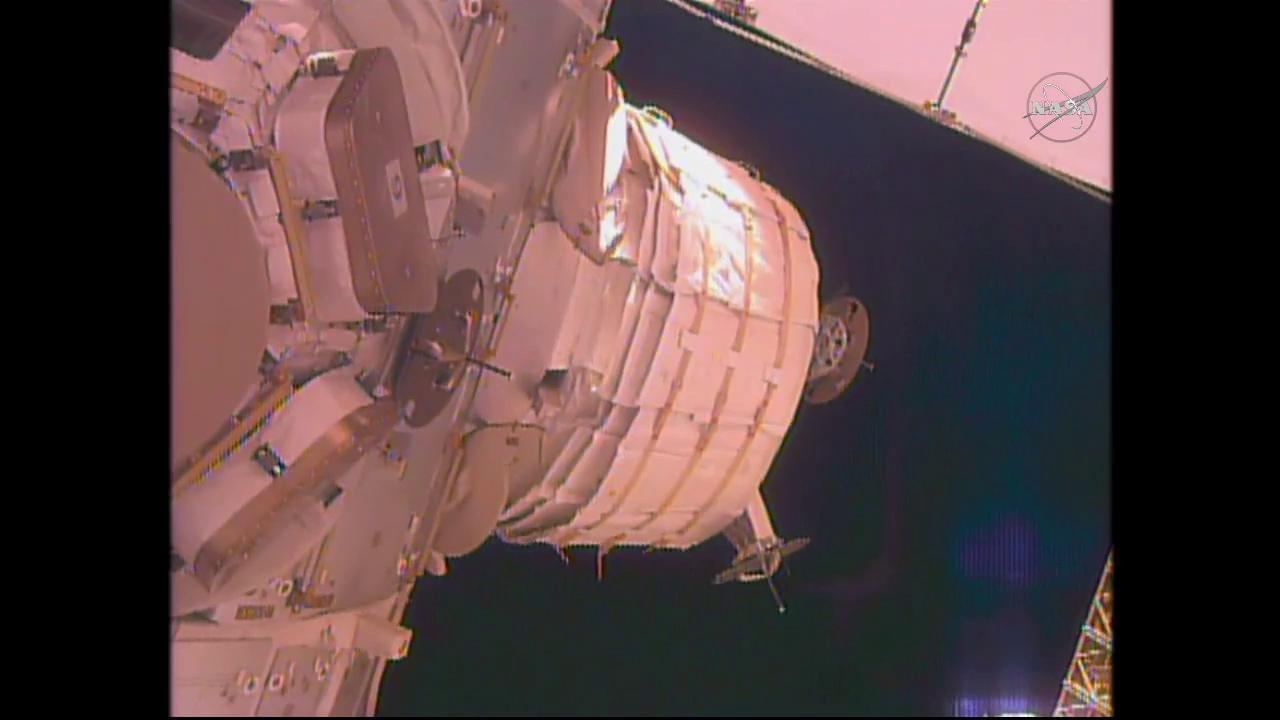 BEAM Module Attached to Tranquility