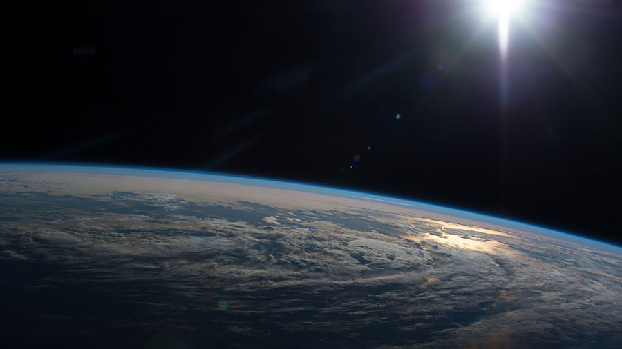 Sunlight Reflecting Off Earth