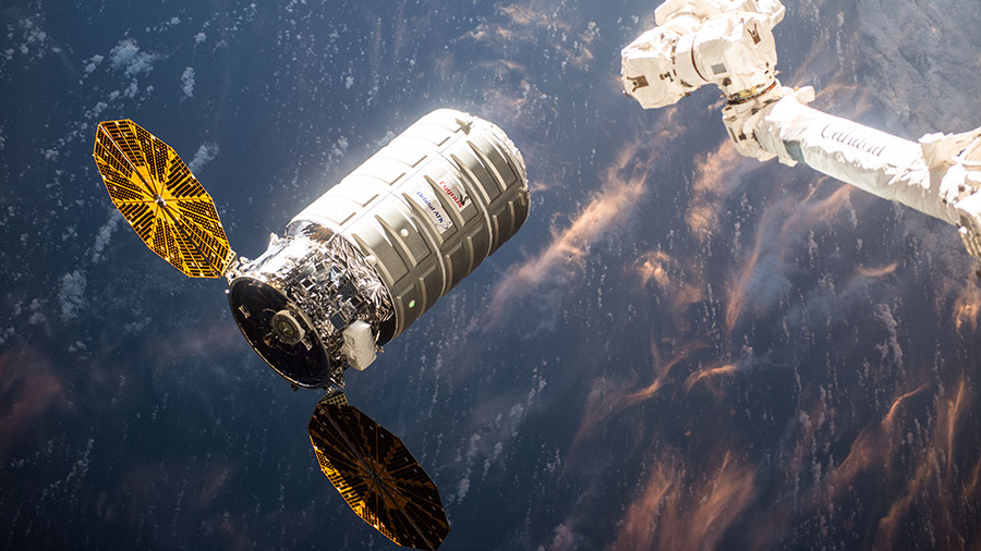 Cygnus Arrives at Station