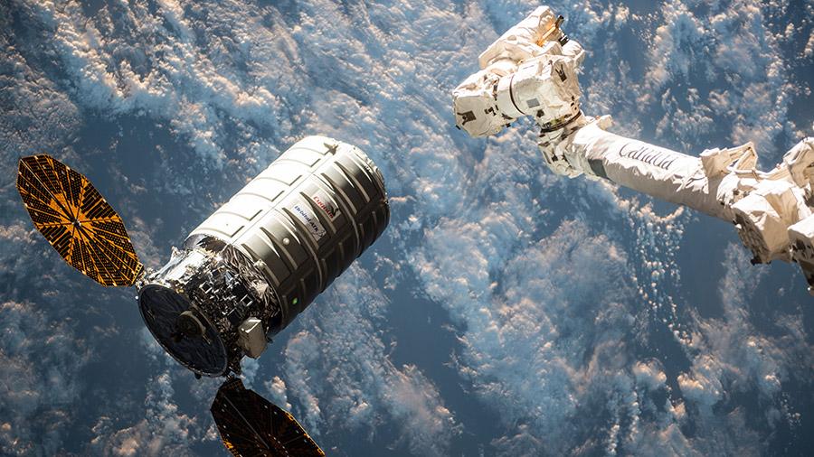 Canadarm2 Captures Cygnus