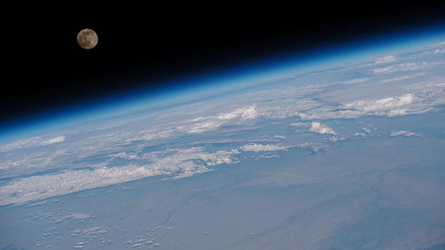 Full Moon Above Earth