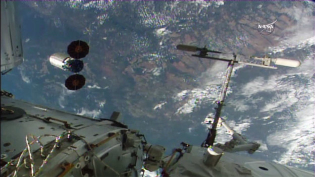 Robotic Arm Releases Cygnus Before Fire Experiment Starts