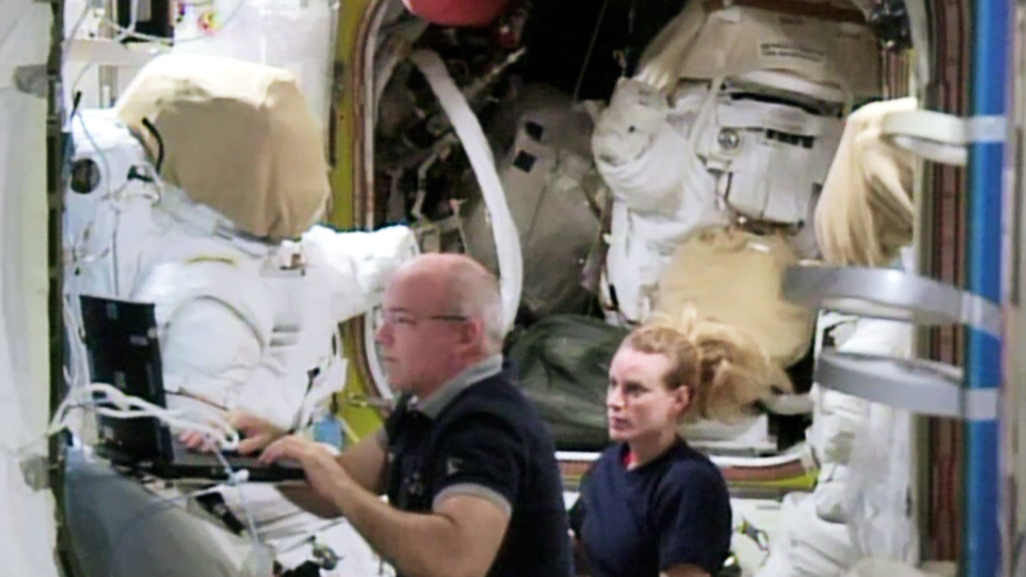 NASA Astronauts Jeff Williams and Kate Rubins