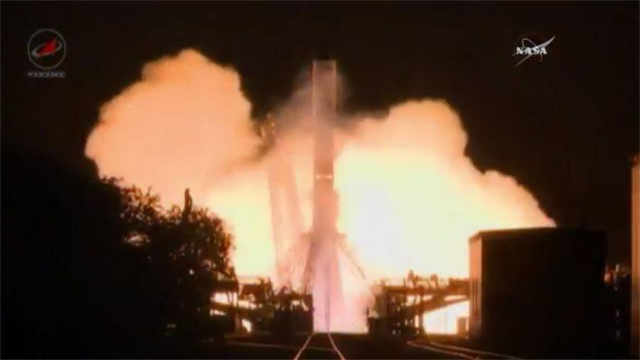 The Progress 64 Rocket Launches