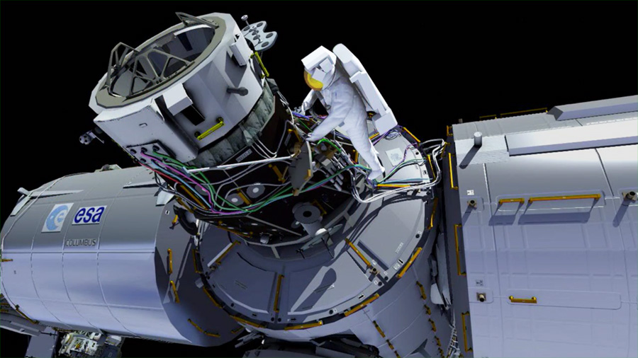 Computer Rendering of a Spacewalker