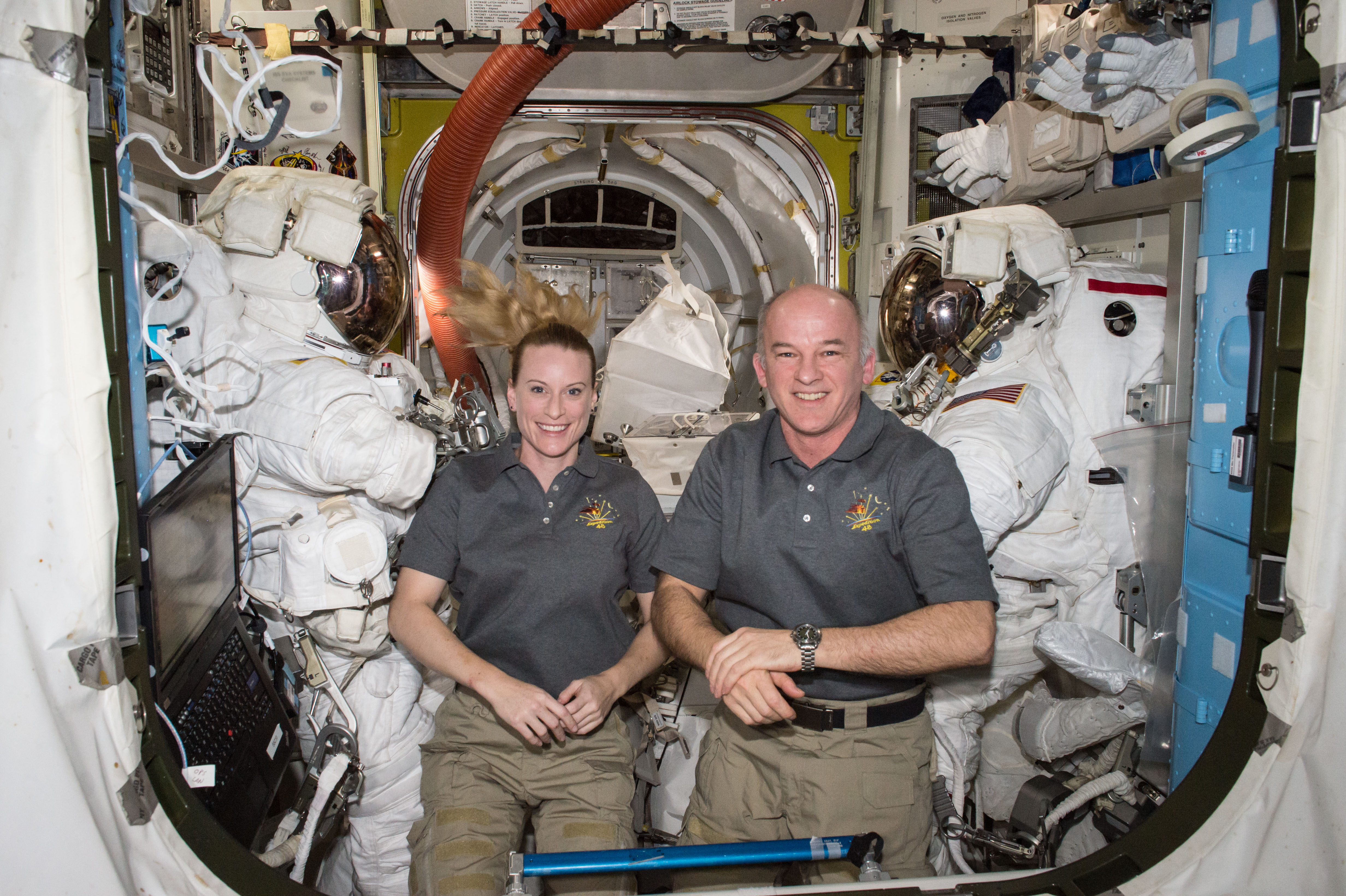 Astronauts Kate Rubins and Jeff Williams
