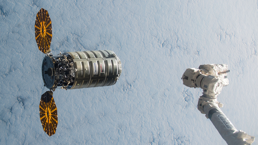 Cygnus Spacecraft Before Capture