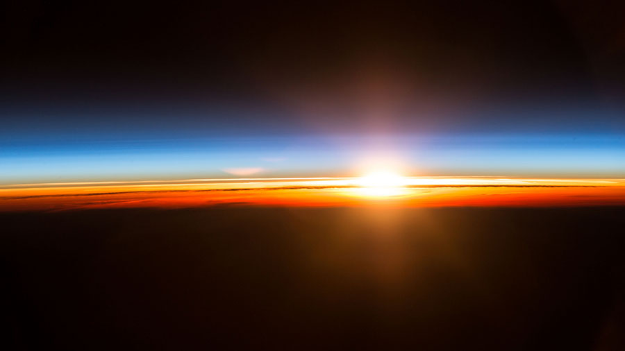 Sunrise During Expedition 49