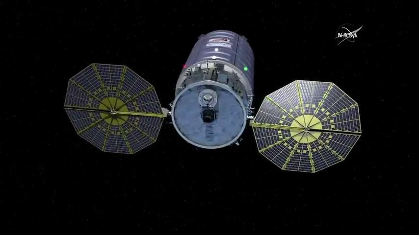 Cygnus Spacecraft and Solar Arrays