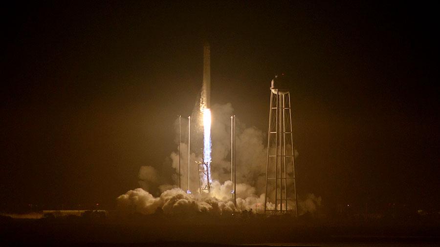 Liftoff of the Orbital ATK Antares Rocket