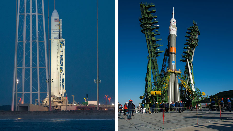 The Antares and Soyuz Rockets