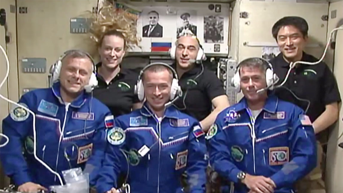 The Six-Member Expedition 49 Crew