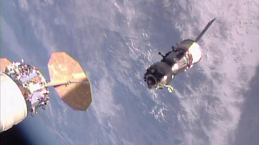 Soyuz MS-01 Departs