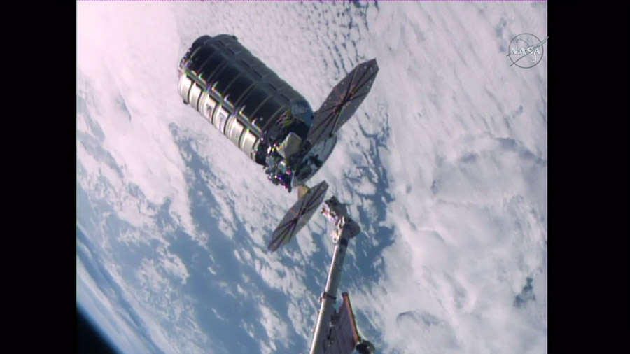 The Orbital ATK Cygnus space freighter