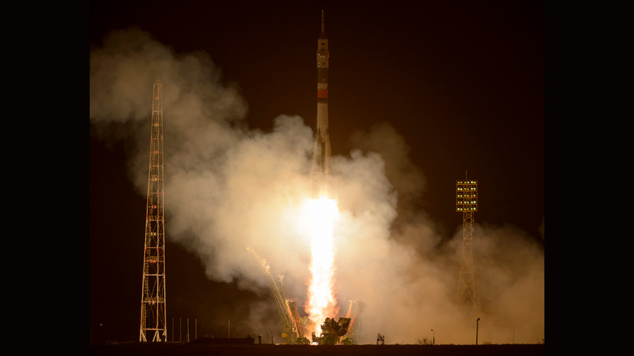 The Soyuz MS-03 Spacecraft Launches