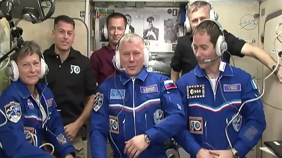 The Six-Member Expedition 50 Crew