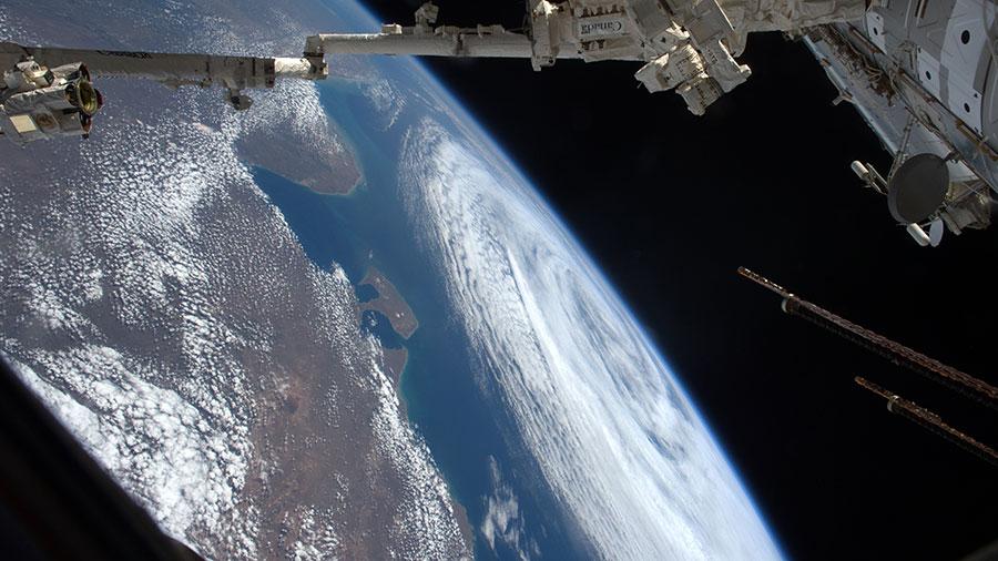 Storm near South America