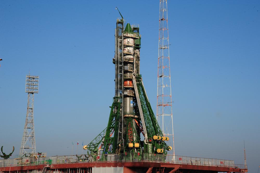 Progress Rocket at Launch Pad