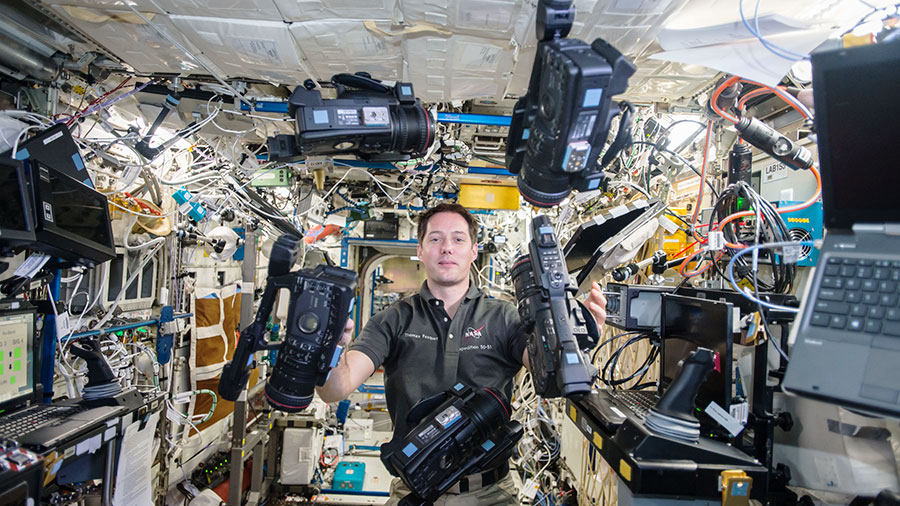 Expedition 50 flight engineer Thomas Pesquet