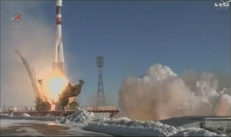 The Russian 66 Progress launched at 12:58 a.m. Wednesday (11:58 a.m. Baikonur time) from the Baikonur Cosmodrome in Kazakhstan.