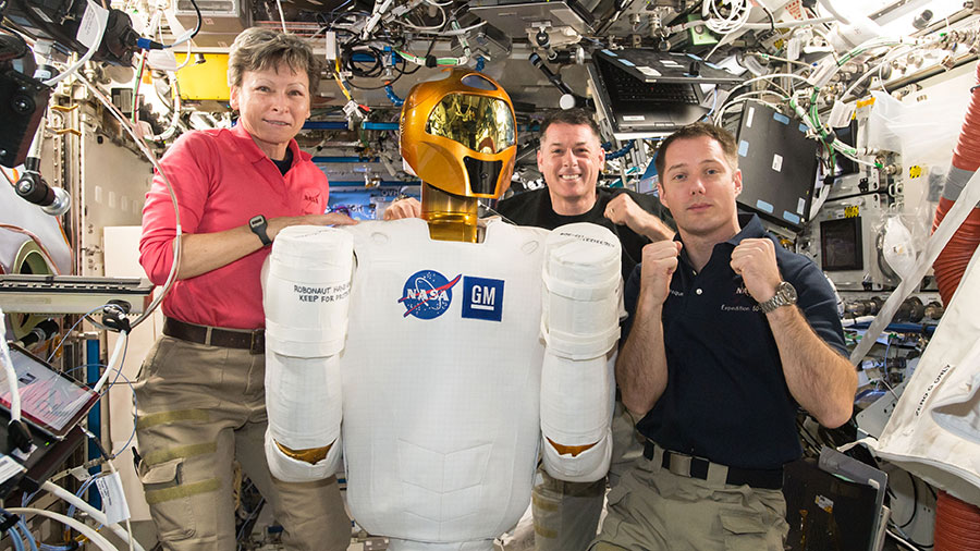 Expedition 50 Astronauts and Robonaut